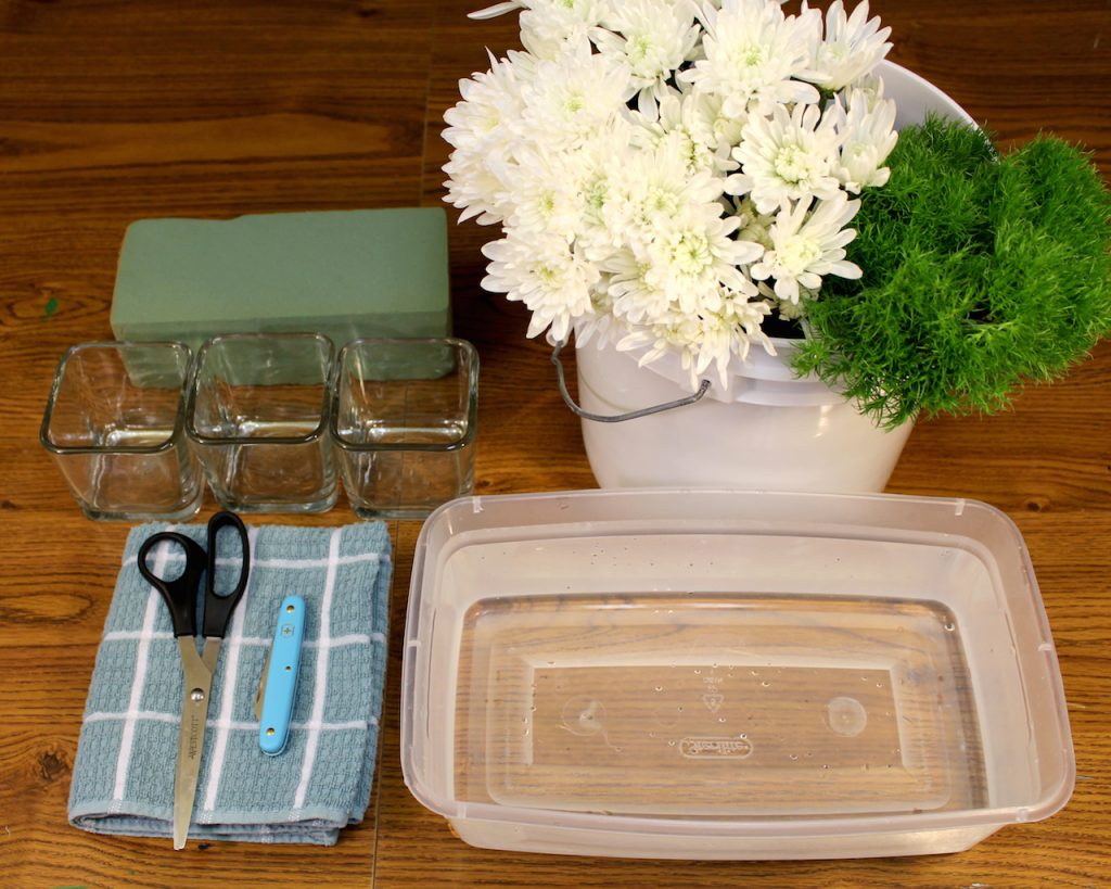 $15 centerpiece supplies